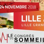 Congrès du sommeil novembre 2018 Lille